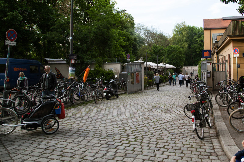 Biergarten am Muffatwerk - Eingang
