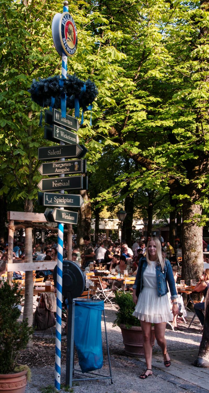 Paulaner-Garten Wegweiser