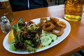 Schlösselgarten - Hauptspeise Calamari